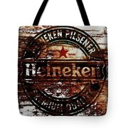 Heineken Beer Wood Sign 1j Tote Bag