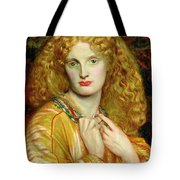 Helen Of Troy Tote Bag by Dante Charles Gabriel Rossetti