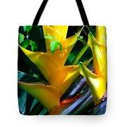 Heliconia Caribea Gold Tote Bag