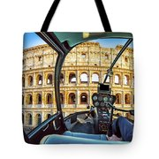 Helicopter On Colosseo Tote Bag