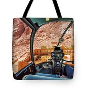 Helicopter On Monastery Of St Catherine Tote Bag