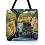 Helicopter On Tasman Arch Tote Bag