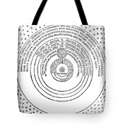 Heliocentric Universe, Thomas Digges Tote Bag