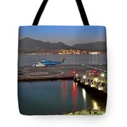 Heliport In The Vancouver's Port Tote Bag