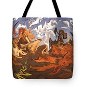 Heavy Weather News - Abstract Modern Art Tote Bag