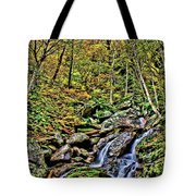 Hellbrook Cascades In Autumn Tote Bag