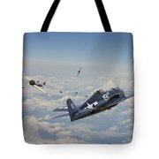 Hellcat F6f - Duel In The Sun Tote Bag