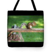 Hello Are You Gonna Eat All That? Chipmunk And Squirrel Tote Bag