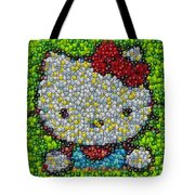 Hello Kitty Mm Candy Mosaic Tote Bag