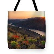 Hells Canyon Sunrise Tote Bag