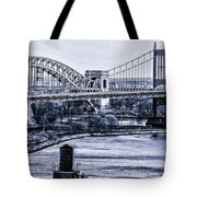 Hells Gate Bridge Triborough Bridge  Tote Bag