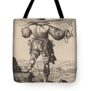 Helmeted Musketeer Tote Bag