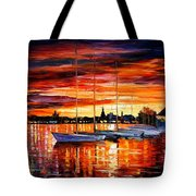 Helsinki - Sailboats At Yacht Club Tote Bag