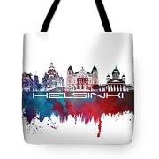 Helsinki Skyline City Blue Tote Bag