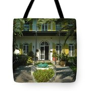 Hemingways House Key West Tote Bag