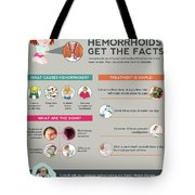 Hemorrhoids Get The Facts Tote Bag
