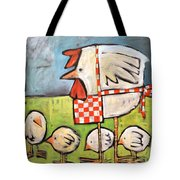 Hen And Chicks After Storm Tote Bag