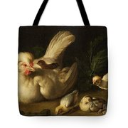 Hen With Chicks Tote Bag