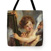 Henri Iv Receiving The Portrait Of Marie De Medici Tote Bag by Rubens