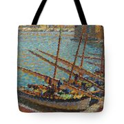 Henri Martin 1860 - 1943 Boats To Collioure Tote Bag