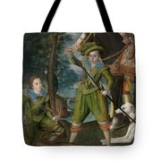 Henry Frederick 15941612 Prince Of Wales With Sir John Harington 15921614 In The Hunting Field Tote Bag