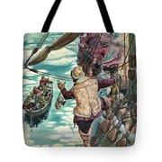 Henry Hudson Being Set Adrift Tote Bag