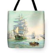 Tranquil Morning - Foochow, The Famous Clipper Thermopylae At Anchor Tote Bag