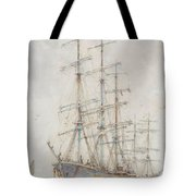Henry Scott Tuke Windjammers At Anchor, 1921 Tote Bag