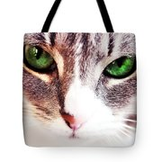 Her Emerald Eyes. Kitty Time Tote Bag