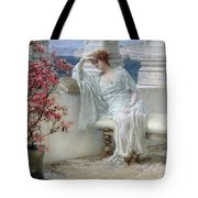 Her Eyes Are With Her Thoughts And They Are Far Away Tote Bag