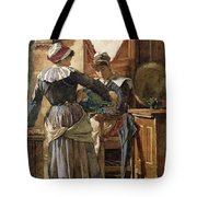 Her First Born Tote Bag by Walter Langley