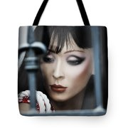 Her Lips My Fight  Tote Bag