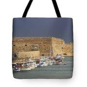 Heraklion Castle Crete Greece Tote Bag