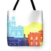Heraklion Skyline Pop Tote Bag