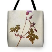 Herb Robert - Wild Geranium  #flower Tote Bag
