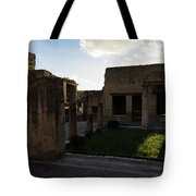 Herculaneum Ruins - Mosaic Tile Streets And Sun Splashes Tote Bag