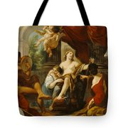 Hercules And Omphale Tote Bag