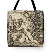 Hercules Killing The Nemean Lion Tote Bag