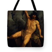 Hercules On The Pyre 1617 Tote Bag