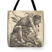 Hercules Overcoming The Nemean Lion Tote Bag