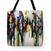 Herd Of Carousel Ponies Tote Bag