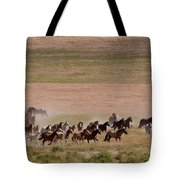 Herd On The Move Tote Bag