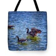 Herding Geese Tote Bag