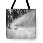 Here Comes That Snowblower Again Tote Bag