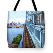 Here Comes The Train Tote Bag