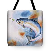 Here Fishy, Fishy Tote Bag