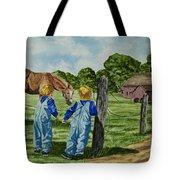 Here Horsey Horsey Tote Bag
