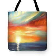 Here It Goes - Colorful Sunset Tote Bag
