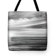 Here It Goes In Black And White Tote Bag