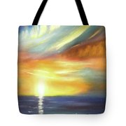 Here It Goes - Vertical Colorful Sunset Tote Bag